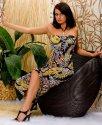 Maxi Neckholderkleid Sommerkleid Empire Boho Hippie Kleid Gr. 36-38-------MK 22