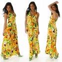 Maxi Sommerkleid Edel Hippie Style Kleid Gr. 36, 38
