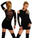 LH-Dessous - 11406. Ein absoluter Eye Catcher. Sexy Mini-Kleid mit aufgeschlitzen langen Ärmeln und Rücken. Größe L-XL (UVP 69.90)