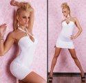 Minikleid/Longtop mit Ovalen-Ausschnitt