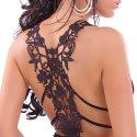 Dark Young Fashion Tattoo Necktop mit Spitze im Rücken Gr. 34-36, Schwarz
