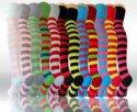 Socks Avenue, Damen Overknee Strümpfe gestreift