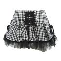 Hell Bunny Minirock GINGHAM MINI black/white