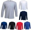Fruit of the Loom Longsleeve Langarm T-Shirt in 7 Farben und 5 Grössen