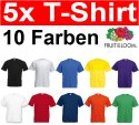 Fruit of the Loom 5er Pack T-Shirts Größe S M L XL XXL XXXL