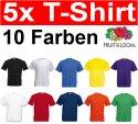 Fruit of the Loom 5er Pack T-Shirts Größe S M L XL XXL XXXL